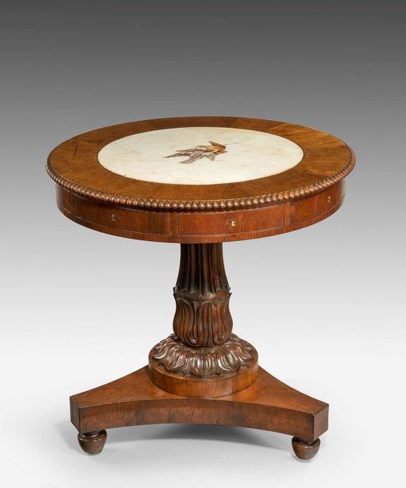 A Regency drum table.