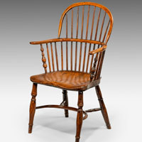 Antique yew windsor armchair