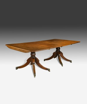 A Regency two pillar dining table.