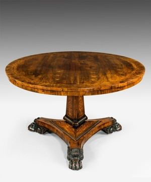 Regency rosewood centre table.