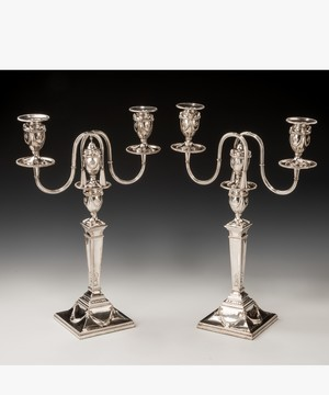 Pair of Georgian Neo-classical candelabra