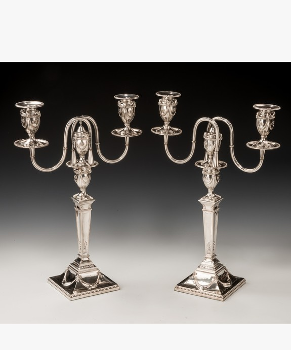 Antique Georgian pair of candelabra