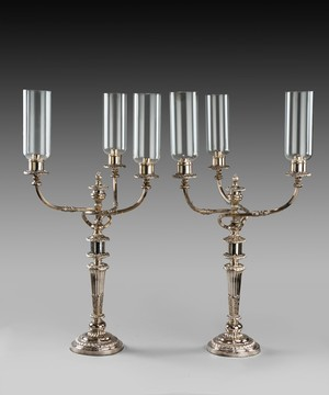 Pair Regency Candelabra by the Matthew Boulton Plate Company
