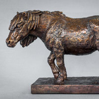 Sculpture of a shetland pony