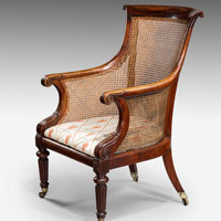 Antique mahogany Regency armchair