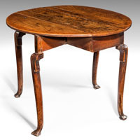 Antique Georgian rustic elm table.