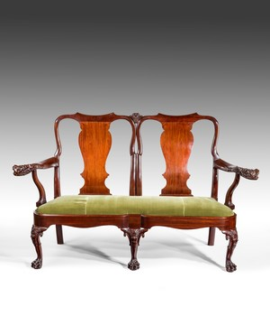 An Irish George II settee.