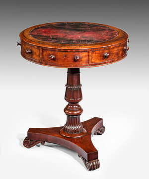 A small Regency drum table.