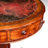 Antique Regency drum table