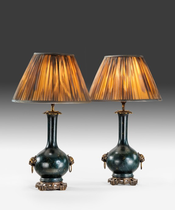A pair of Toleware Table Lamps.