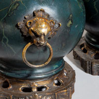 Antique pair of table lamps.