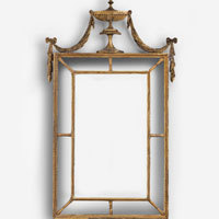 Antique Adam mirror pier glass