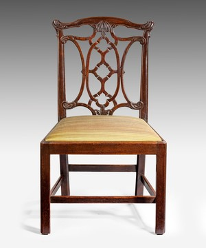 A Chippendale mahogany side chair.