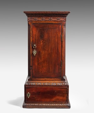 A Chippendale mahogany  pedestal cupboard.