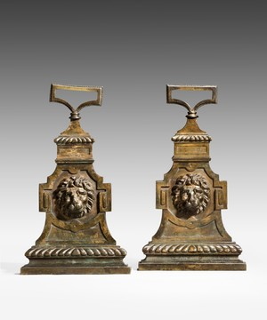 A pair of Regency door stops.