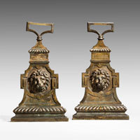 Antique pair of Regency door stops