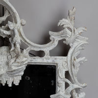 An antique Chippendale rococo mirror.