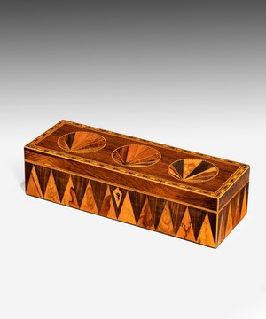 A Tunbridge ware parquetry glove box.