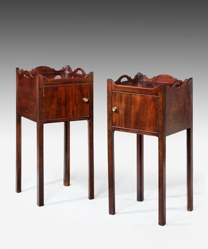 Pair of Chippendale pot cupboards.