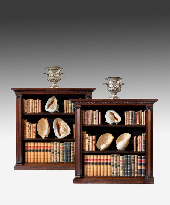 A pair of Regency bookcases.