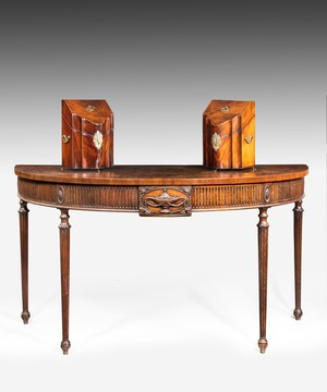 Georgian Adam period mahogany console table.