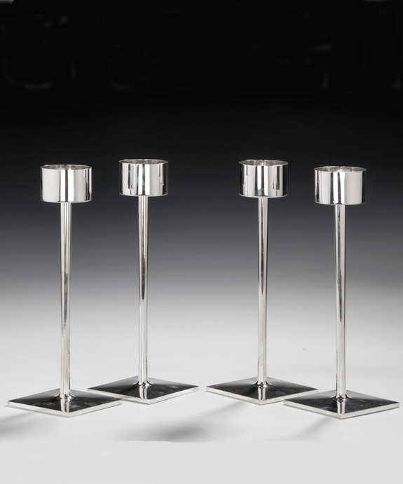 Set silver candlesticks by Styles