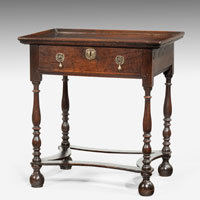 Seventeenth Century oak side table