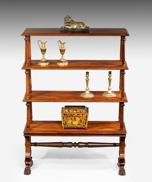 Regency rosewood open bookshelves