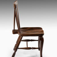 Georgian fruitwood windsor chair