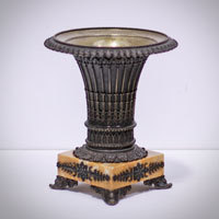 Antique French bronze urn