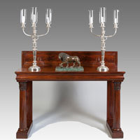 Antique Irish console table by Williams and Gibton
