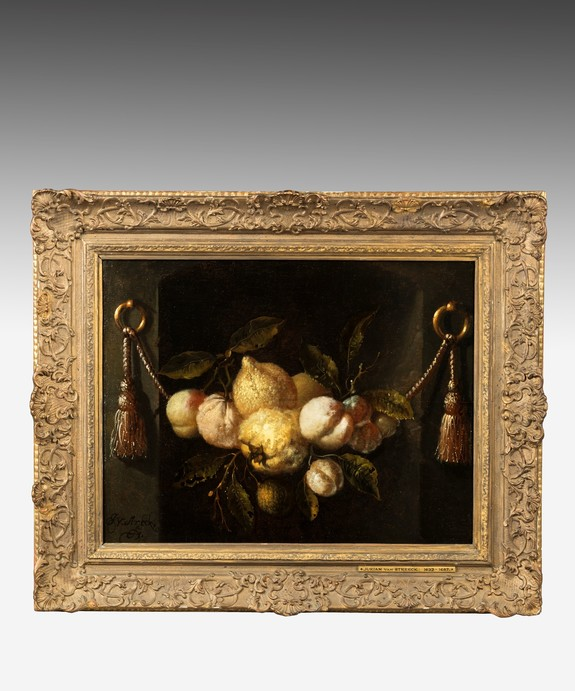 Antique Still Life Oil Painting by Van Streeck