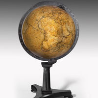 Pair antique globes by Newton and Son.