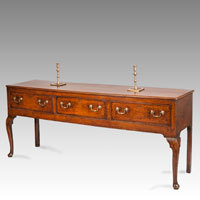 Antique oak dresser with cabriole legs
