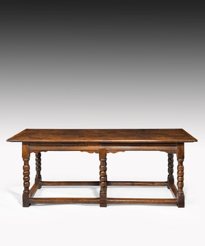 Late Seventeenth Century oak hall table