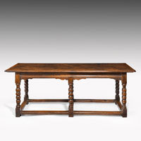 Antique oak hall table