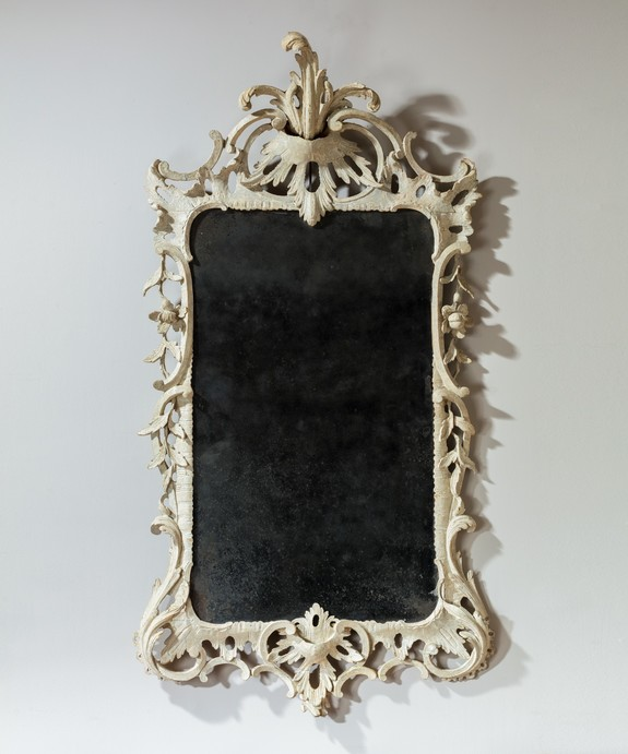 Antique Chippendale painted mirror