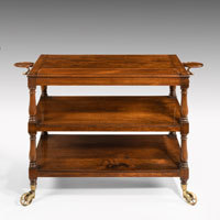 Irish Regency library folio stand in mahogany by Williams and Gibton