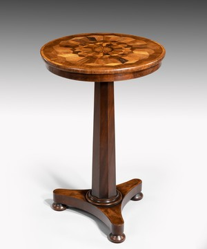 Regency specimen inlaid tripod table