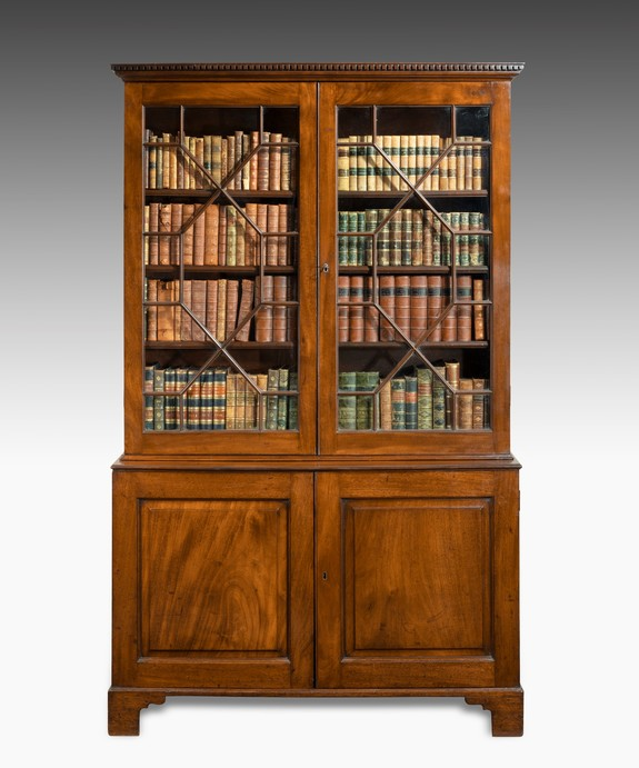Chippendale cupboard base bookcase