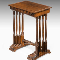 Regency rosewood nest of tables
