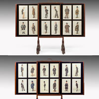 Set Vanity Fair Spy charicatures displayed in Regency screens