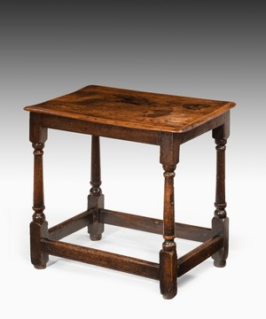 Queen Anne elm side table.