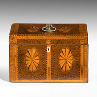 Georgian marquetry tea caddy