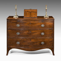 Georgian mahogany bowfront chest of drawers