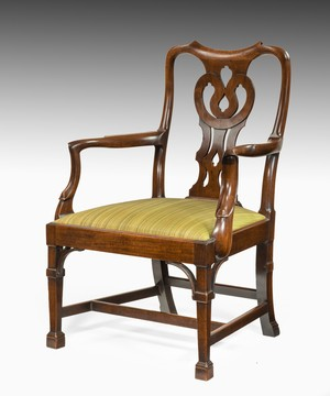 Georgian mahogany desk armchair