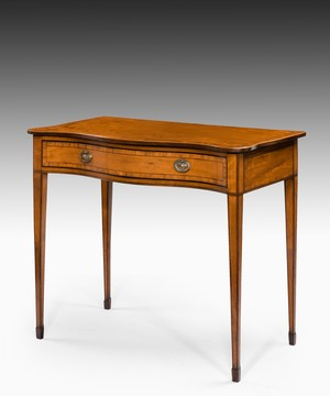 Georgian Sheraton period satinwood side table