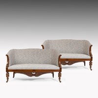 Antique pair of sofas