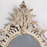 Georgian painted oval mirror