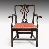 Antique Georgian Chippendale armchair